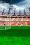 Stock Image :  Estadio de fútbol vacío en luz del sol