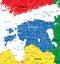 Stock Image : Estonia map