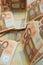 Stock Image : 50 euro banknotes