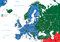 Stock Image : Europe road map