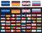 Stock Image : European 48 flags on black