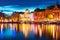 Stock Image : Evening scenery of Stockholm, Sweden