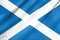 Stock Image : Fabric Flag of Scotland