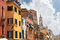 Stock Image : Facades of the houses on the street in Venice