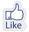 Stock Image : Facebook like