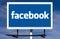 Stock Image : Facebook Logo Billboard Sign