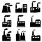 Stock Image : Factory, power plant industrial icons
