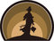 Stock Image : Fairy silhouette