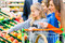 Stock Image : Family grocery shopping in hypermarket