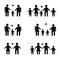 Stock Image : Family Silhouettes