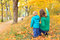 Stock Image : Family walk in autumn