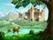 Stock Image : Fantasy Castle