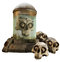 Stock Image : Fantasy jar and skulls