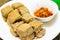 Stock Image : Farina di fave fermentata forte-odorante fritta