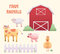 Stock Image : Farm Animals Barnyard Set
