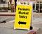 Stock Image : Farmers Market Sign - Sandwich Board