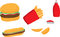 Stock Image : Fast food icons