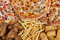 Stock Image : Fastfood chicken nuggets, legs, pizzas and fry potatos