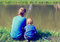 Stock Image : Father and son fishing