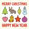 Merry christmas and happy new year toys