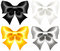 Stock Image : Festive bows black and gold