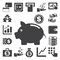 Stock Image : Finance and money icon set.
