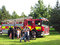 Stock Image : Fire and rescue tender at an outdoor event.