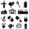 Stock Image : Fire safety icons