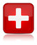 Stock Image : First aid medical button sign with reflection isol