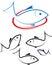 Stock Image : Fish logo