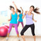 Stock Image : Dancing woman fitness dance studio class