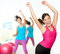 Stock Image : Fitness dance woman dancing class