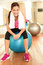 Stock Image : Fitness woman in gym