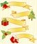 Stock Image : Five Christmas Ribbons