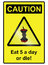 Stock Image : Five a day hazard Sign