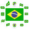 Stock Image : Flags of Brazil.