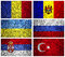 Stock Image : Flags of Eastern Europe part 2