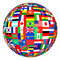 Stock Image : Flags globe