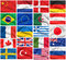 Stock Image : Flags set: USA, United Kingdom, France, Brazil, Germany, Russia, Japan, Canada, Ukraine, Netherlands, Australia, Sweden, etc.