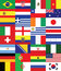 Stock Image : Flags for soccer championship 2014