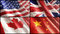 Stock Image : Flags XL. USA, England, Canada and China