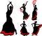 Stock Image : Flamenco dancer