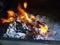 Stock Image : Flaming hot coals