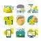 Stock Image : Flat Banking icons
