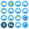 Stock Image : Flat color weather icons