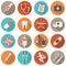 Flat Design Medical icons