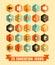Stock Image : Flat education icons
