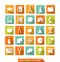 Stock Image : Flat education icons with shadow