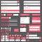 Stock Image : Flat elements design, ui set. Vector