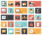 Stock Image : Flat 25 seo, development, social media and computer icons